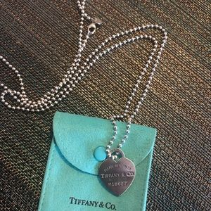 Return to Tiffany heart tag necklace (long)
